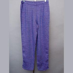 Flax Pants - Flax linen pants S purple blue breathable NWOT